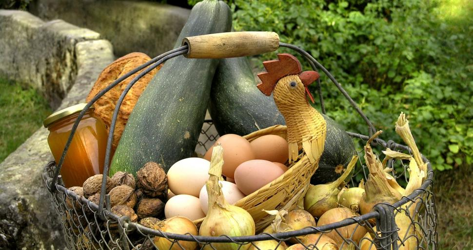 A basket of farm produce ©C. Lazi - CRT CVDL